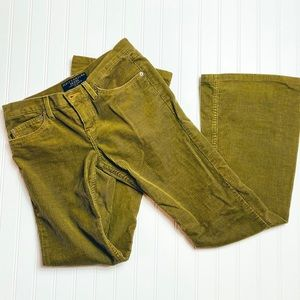 Juicy Couture Corduroy Green Pants Size 28